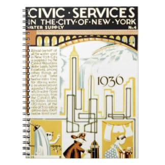 History of Civic Services New York WPA Poster Notebooks