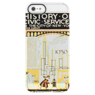 History of Civic Services New York WPA Poster Permafrost iPhone SE/5/5s Case