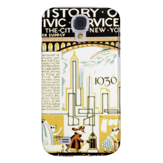 History of Civic Services New York WPA Poster Samsung Galaxy S4 Cover