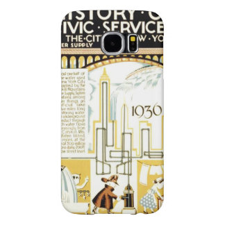 History of Civic Services New York WPA Poster Samsung Galaxy S6 Case