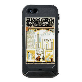 History of Civic Services New York WPA Poster Waterproof iPhone SE/5/5s Case