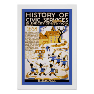 History of Civic Services ~ NY~ Police ~1~ Vintage Posters
