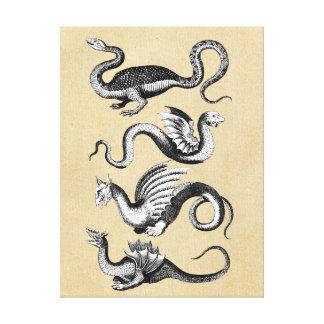 History of Dragons Wall Chart Canvas Print