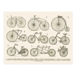History of French bicycles, published in 1920 Postcard
