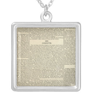 History of Greece Chronology Silver Plated Necklace