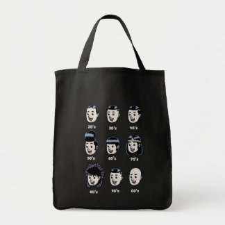 History of Mens Hair Grocery Tote Bag