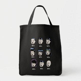 History of Mens Hair Tote Bag