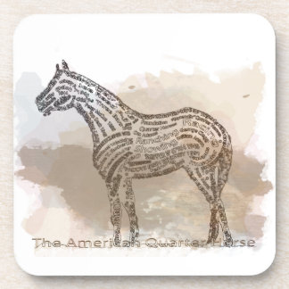 History of the American Quarter Horse in Typograph Coaster