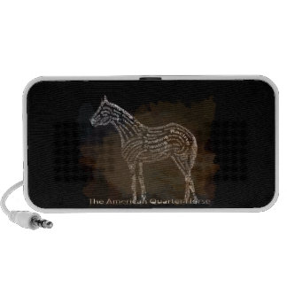 History of the American Quarter Horse in Typograph PC Speakers
