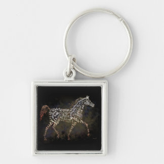 History of the Arabian Horse Gifts & i-Phone Cases Silver-Colored Square Keychain