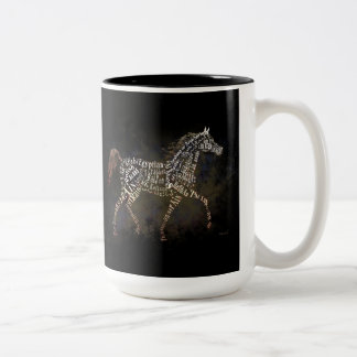 History of the Arabian Horse Gifts & i-Phone Cases Two-Tone Coffee Mug
