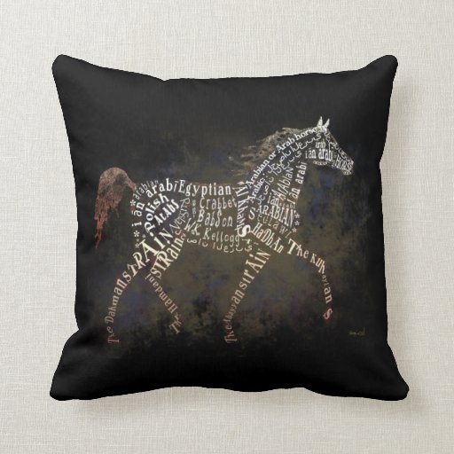 History of the Arabian Horse Throw Pillow