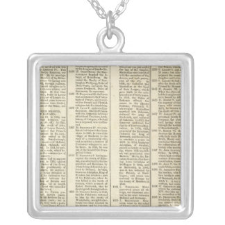 History of the Electoral Houses of Germany Silver Plated Necklace