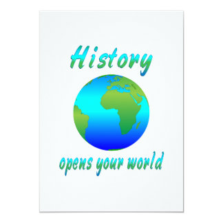 History Opens Worlds Card