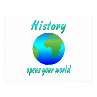 History Opens Worlds Postcard