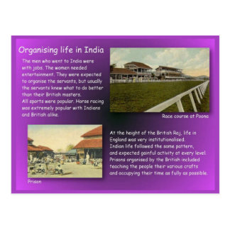History, Organising life in India Postcard