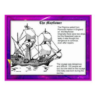 History, Pilgrim Fathers, Mayflower Postcard