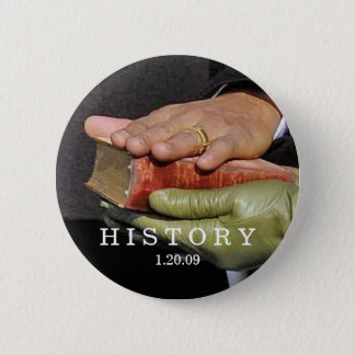 HISTORY: President Obama Hand on Lincoln Bible Button