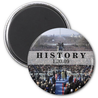 HISTORY: President Obama Inauguration 2 Inch Round Magnet