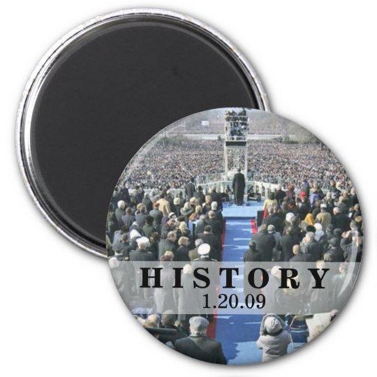 HISTORY: President Obama Inauguration Ceremony Magnet