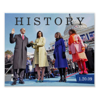 HISTORY: President Obama Inauguration Ceremony Poster