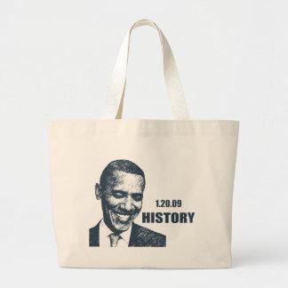 HISTORY - President Obama Inauguration Large Tote Bag