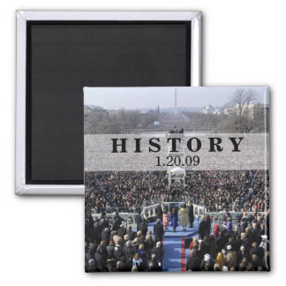 HISTORY: President Obama Inauguration 2 Inch Square Magnet