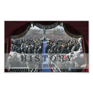 HISTORY: President Obama Inauguration Speech Poster
