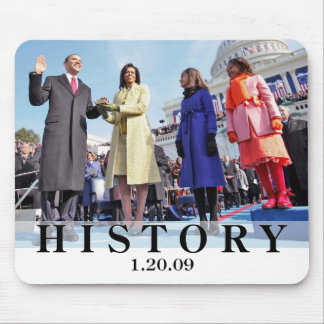 HISTORY: President Obama Swearing In Ceremony Mouse Pad