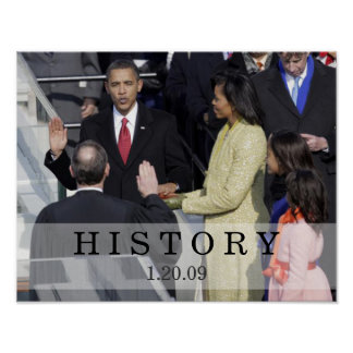 HISTORY: President Obama Swearing In Ceremony Poster