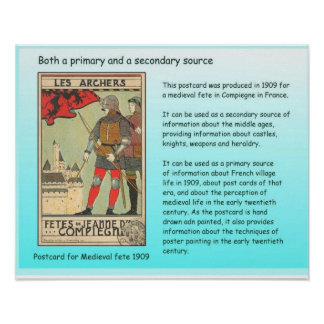 History, Primary and Secondary sources Poster