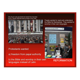 History,  Reasons for the Reformation Postcard