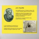 History, Reformation, John Wycliffe Print