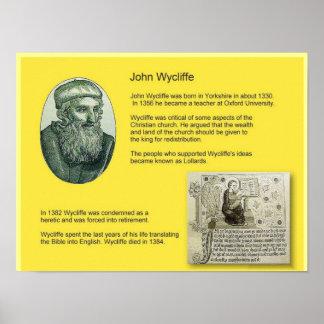 History, Religion, John Wycliffe, Bible translator Poster