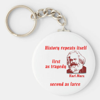 History Repeats Itself Basic Round Button Keychain