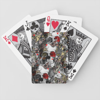 History repeats, rose skull pattern bicycle playing cards