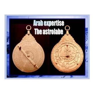 History, Rise of Islam, Arab expertise, Astrolabe Postcard