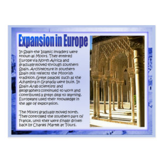 History, Rise of Islam, Muslim expansion in Europe Postcard