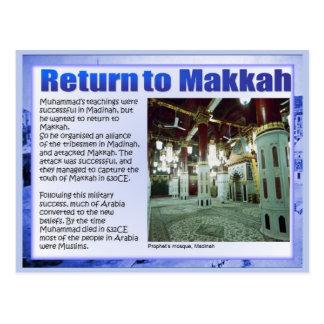 History,  Rise of Islam, Return to Makkah Postcard