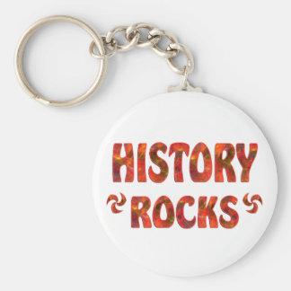 HISTORY ROCKS BASIC ROUND BUTTON KEYCHAIN