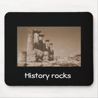 History rocks mouse pad