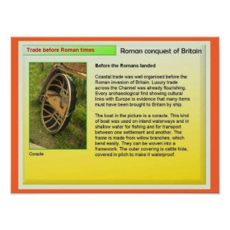 History Roman Britain Coracles and trade Posters