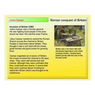 History, Romans,Julius Caesar, Conquest of Britain Postcard