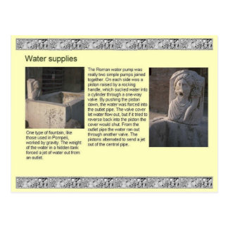 History, Romans, Water supplies Postcard