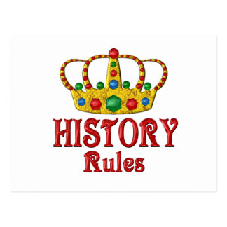HISTORY Rules Postcard
