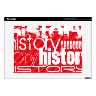 "History; Scarlet Red Stripes Decals For 15"" Laptops"