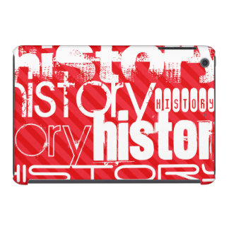 History; Scarlet Red Stripes iPad Mini Cover