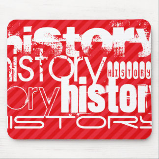 History; Scarlet Red Stripes Mouse Pad