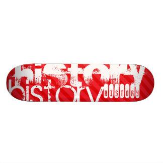 History; Scarlet Red Stripes Skateboard