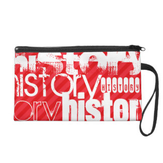 History; Scarlet Red Stripes Wristlet